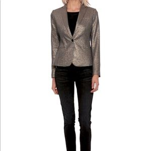 Banana Republic Gold Metallic Blazer